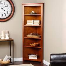 Corner Bookcase Cherry Curved Corner Bookcase Wood Corner Bookcase 6 Shelves Cherry
