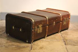 circa 1920s english canvas u0026 willow banded trunk leather trunks