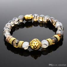 gold charm bracelet beads images 2018 style of lions natural gold and silver plated lion head jpg