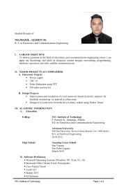 Resume Format For Ojt Sample Of Resume For Ojt Comtech Augustais