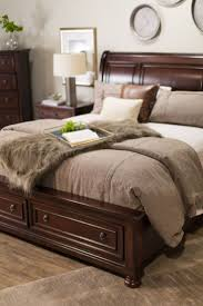 best 25 ashley furniture bedroom sets ideas on pinterest brown sleep comfortably with an ashley furniture sleigh bed with storage comes with 2 storage drawers brown wood