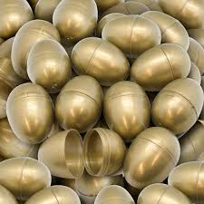 gold easter eggs empty plastic easter eggs 2 8531 gold 100 from american