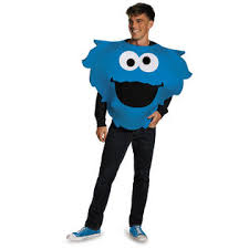 Sesame Street Halloween Costumes Adults Sesame Street Cookie Monster Big Head Halloween Costume Size