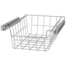panier coulissant pour meuble de cuisine panier coulissant gris h 15 x l 36 8 x p 43 cm leroy merlin