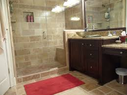 Bathroom Wall Design Ideas by Walk In Shower In A Luxury Bathroom With Stone Tile And Wood