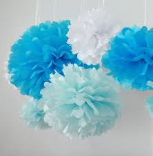 tissue paper decorations 10pcs white tissue hanging paper pom poms hmxpls flower