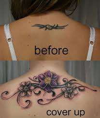 tribal cover up tattoo flowers by 2face tattoo on deviantart