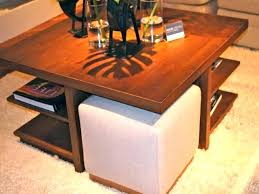 table with stools underneath coffee table nesting stools coffee table with stools underneath