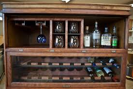 diy liquor cabinet ideas staggering rustic style diy homemade wine rack cabinet design