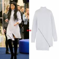 jenner sweater opening ceremony zip sweater dress jenner ribbed wool