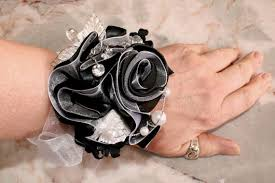 Black And White Corsage Items Similar To Prom Corsage Wedding Wrist Corsage Black And