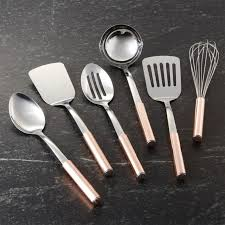 Organic Kitchen Utensils - utensils with copper handles crate and barrel