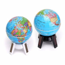solar led light for globes 11cm solar powered rotating world map globe geography atlas with led