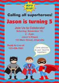 Birthday Card Invitation Templates Superhero Birthday Invitations U2013 Gangcraft Net