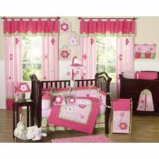 pink and green crib bedding collection