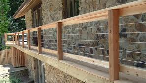 wild hog railing refined with your view in mind hog wire deck