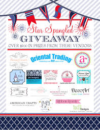 Home Decor Party Companies A Star Spangled Giveaway With 700 Worth Of Prizes Anders Ruff