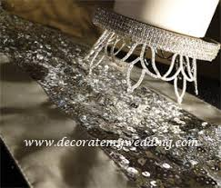 silver sequin table runner decorate my wedding luxurious silver sequin table runner crystal