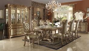 Von Furniture Vendome Formal Dining Room Set In Gold - Formal dining room