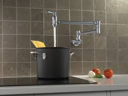 delta cassidy traditional double handle wall mount pot filler
