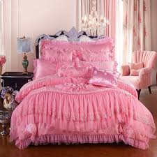 Pink Full Size Comforter Girls Pink Romantic Sweetheart Victorian Rose Sequin Pattern