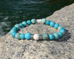 mens bracelet stones images Mens stone bracelet etsy jpg