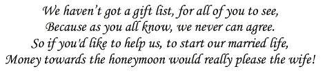 wedding gift honeymoon fund honeymoon fund joe and s wedding 2014