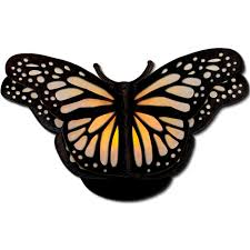 jmrush designs monarch butterfly tea light lantern flameless