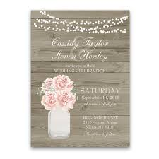 jar wedding invitations rustic jar barn wood country wedding invitations