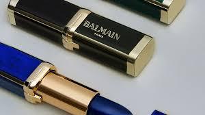 french script l shade a first look at balmain x l oréal paris s new lipstick collaboration