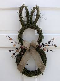 Outdoor Easter Decorations Diy by So Cute Primitive Country Easter Bunny Door Wreath Rustic Easter