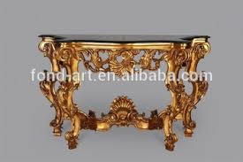 Gold Console Table 486 Antique Gold Console Table With Black Marble Buy Console