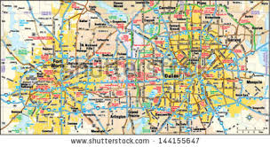 fort worth map dallas fort worth area map stock vector 144155647