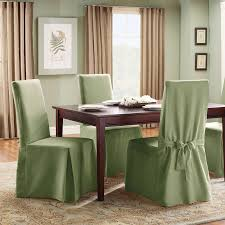 Sure Fit Cotton Duck Full Length Dining Room Chair Slipcover - Dining room chair slipcovers with arms