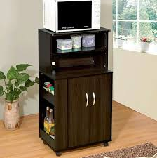 Microwave Storage Cabinet Black Oak Microwave Cabinet Cart With Storage Space With Modern