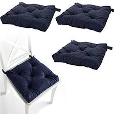 Tie On Chair Cushions Amazon Com Set Of 4 Navy Blue Chair Cushions Pads Machine