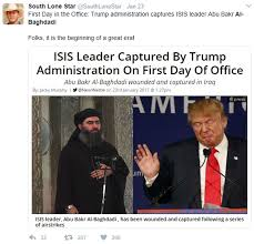 Donald Trump Plan For Isis by Factcheck No Evidence Isis Leader Killed Or Captured U2013 Channel 4 News