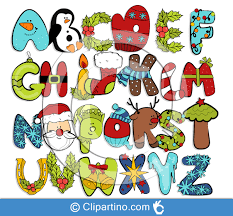 images of christmas letters christmas letters clipart cute alphabet clipartino cliparts svg