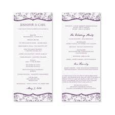 wedding programs free wedding program designs free printable flower garden wedding
