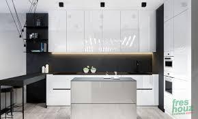 Glossy White Kitchen Cabinets 41 Inspiring Black And White Kitchen Design U2013 Freshouz