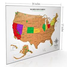map usa buy buy the best scratch usa map with all 59 national parks