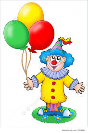 clown baloons entertainment clown with balloons stock illustration