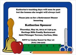 daze teacher retirement party invitations