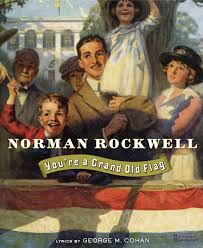 Wave In Flag Lyrics You U0027re A Grand Old Flag Book By Public Domain Norman Rockwell