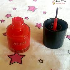 oriflame pure colour nail polish 23168 coral red review u0026 swatches