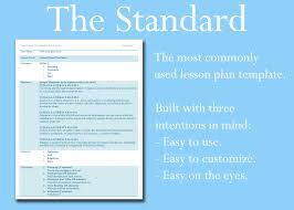 the lesson plan template you u0027ve been looking for