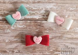 hair bows for clay conversation heart diy hair bows diycandy