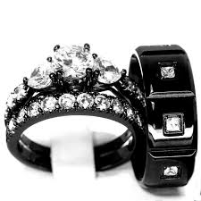 black wedding rings best 25 black wedding ring sets ideas on black