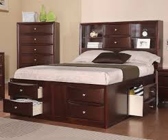 Queen Storage Beds With Drawers Poundex F9234q Espresso Queen Bed With Storage Drawers