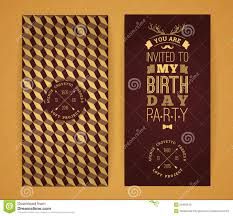 graphic design birthday invitations happy birthday invitation vintage retro background with geometr